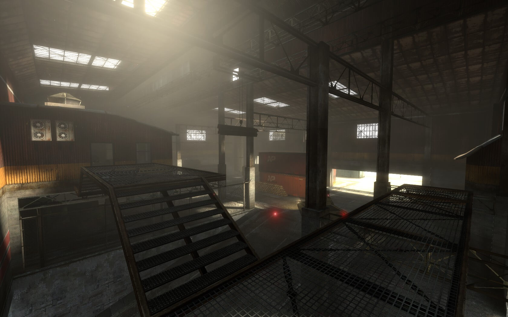 An alternate screenshot of the assault point housed in the Red depot.